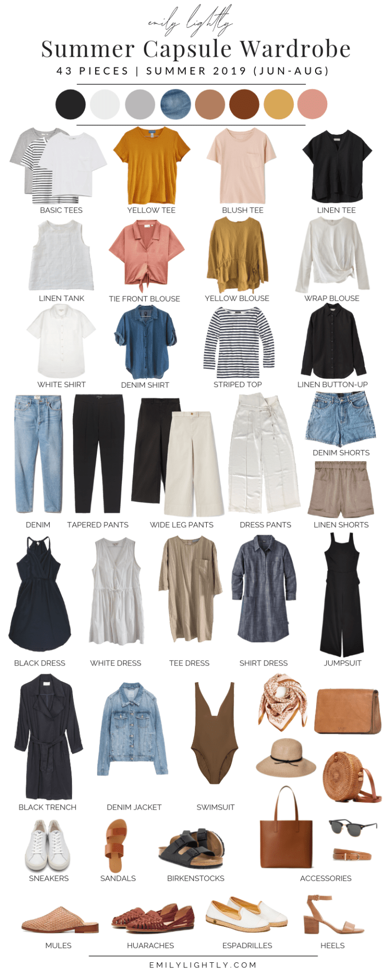 Photo of My Summer 2019 Capsule Wardrobe
