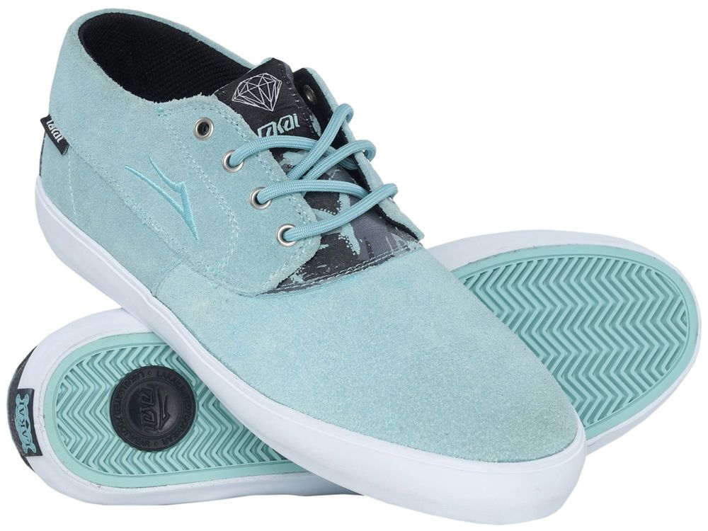 Lakai x Diamond Supply Camby Mid Skate Shoe Blue Suede 9-12 Skatewear Skater  | eBay