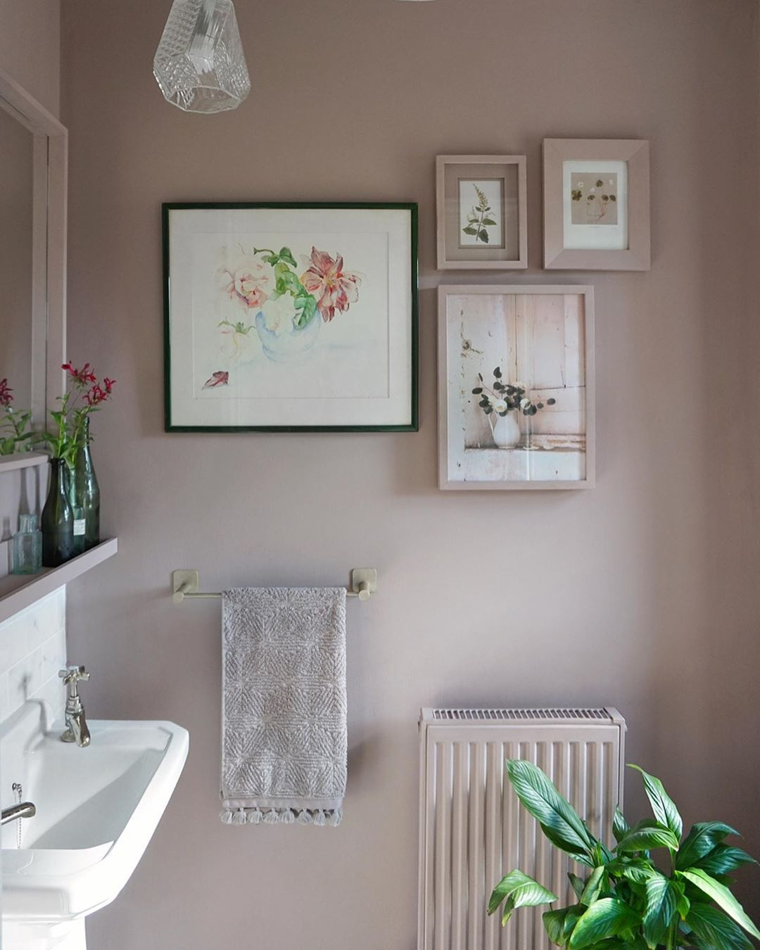 Colour Idea For Downstairs Loo Similar To Rosie S Room Would Go Week With Dark Blue Or Grey Interior Design Blog Farrow And Ball Bedroom Hexagon Tile Floor