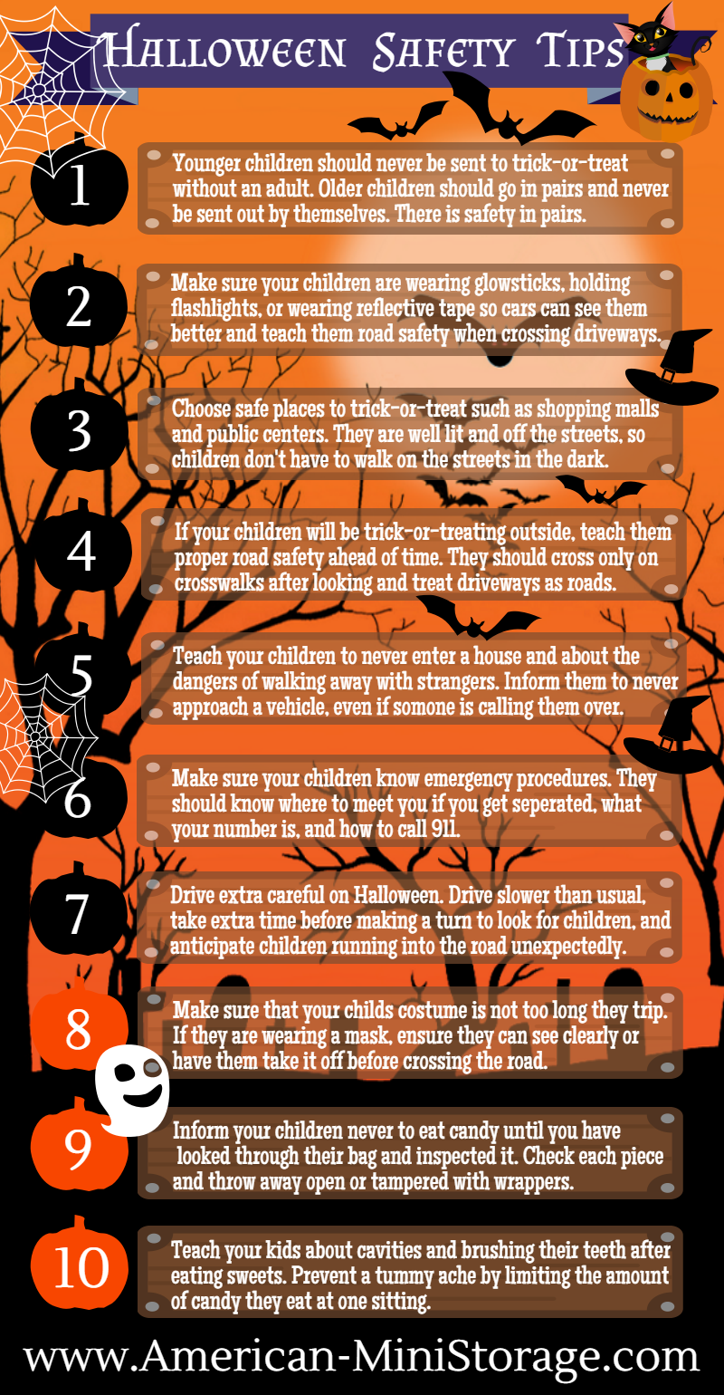 Halloween Safety Tips Infographic Poster Redmond