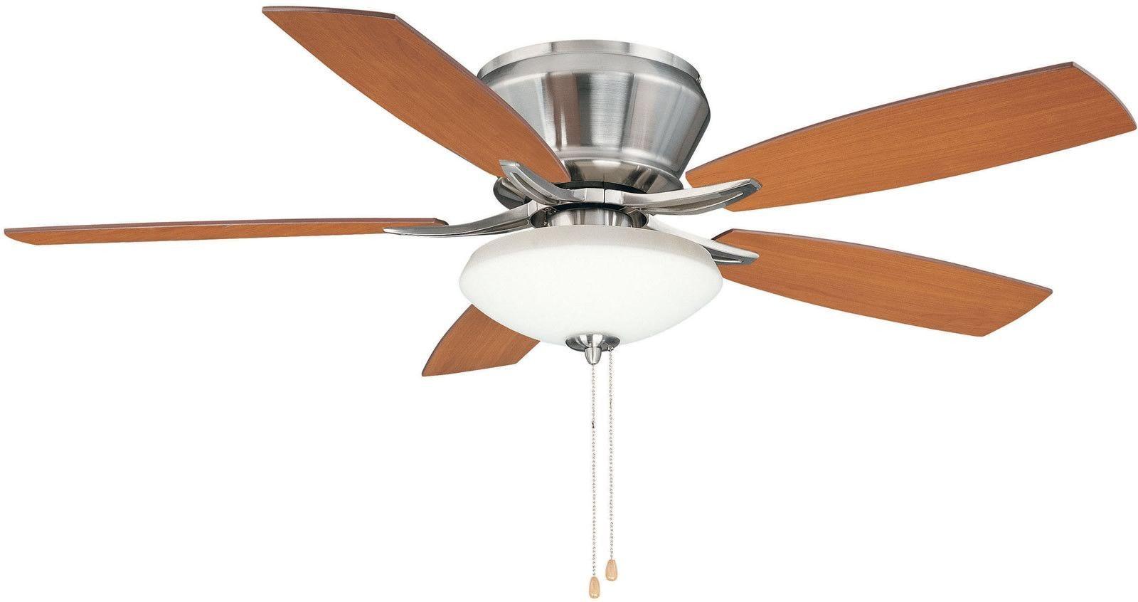 0 029691 52 W Brezza 3 Light Ceiling Fan Brushed Nickel Ceiling Fan With Light Ceiling Fan Hugger Ceiling Fan