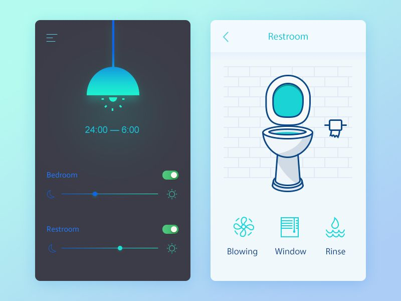 Day02 smart home bedroom lighting toilet and clocks - Home decorating app pict ...