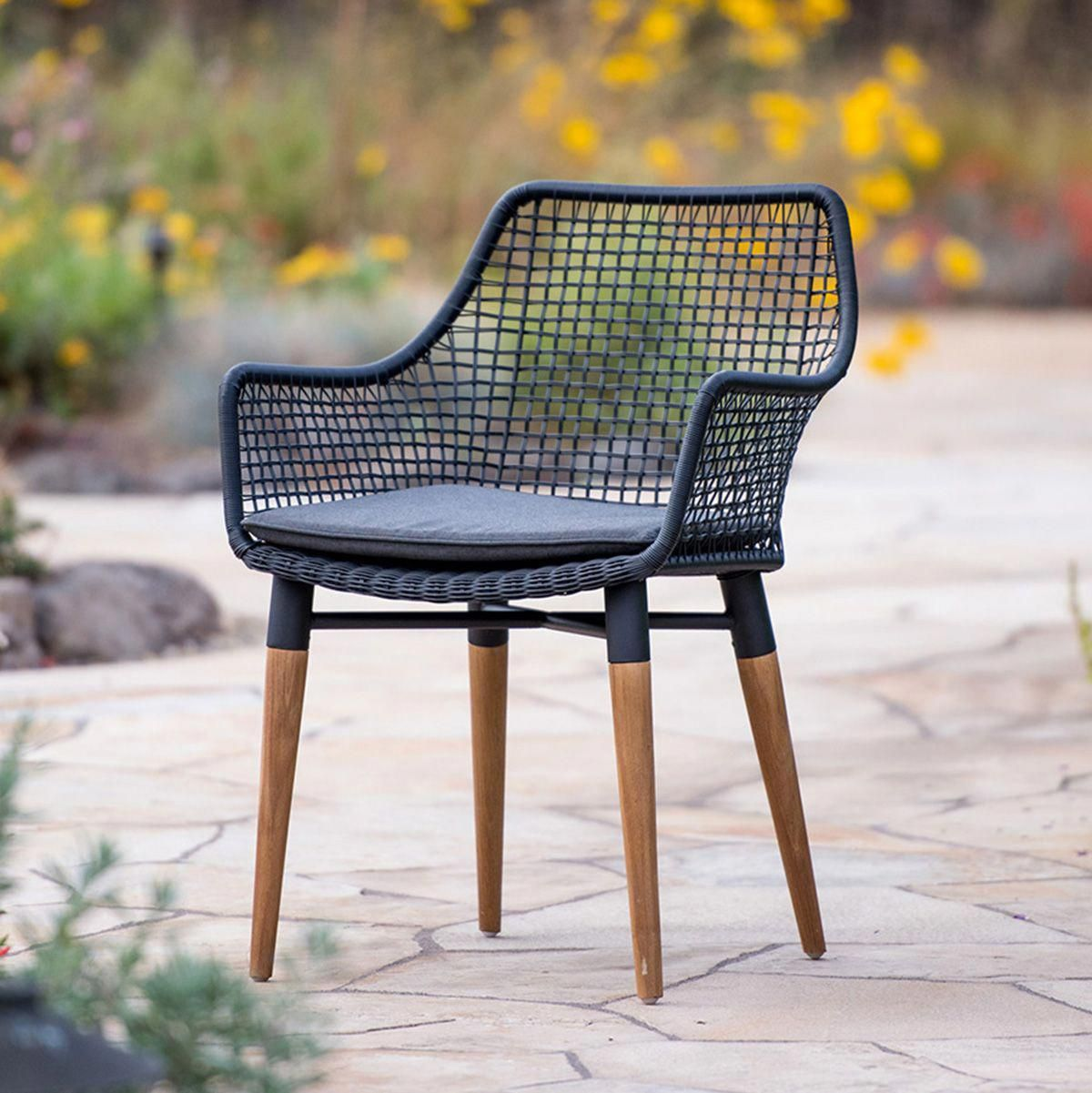 Napa Dining Chair In Charcoal Terra Outdoor Living Furnituresets