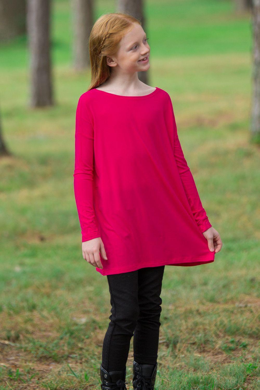 The Perfect Kids Piko Long Sleeve Piko-Cherry