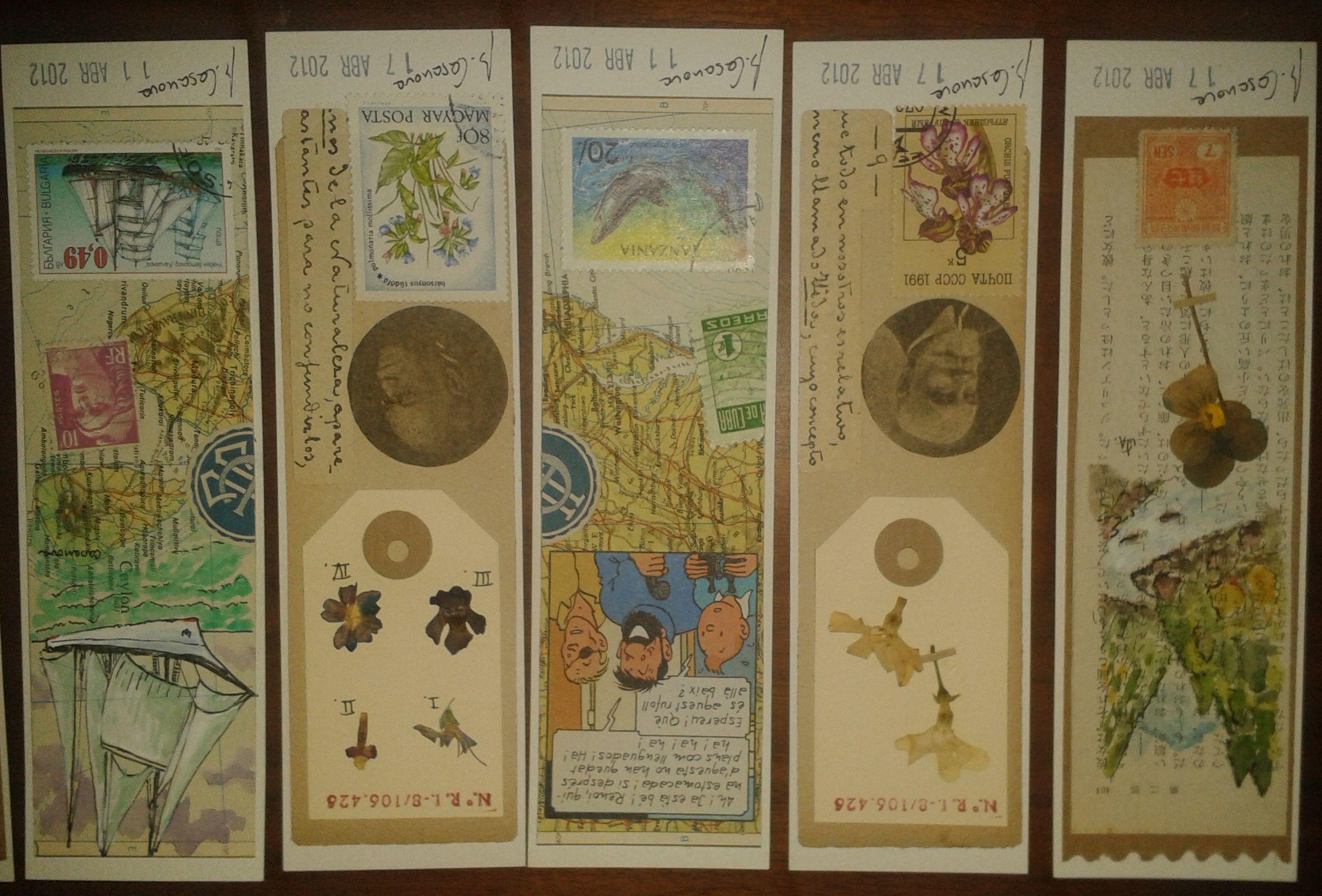 Puntos de libro de Bernat Casanovas #handmade #Bookmark $2,6 (see money exchange in euros) For more information call Gibernau's Bookstore: (0034)933226707