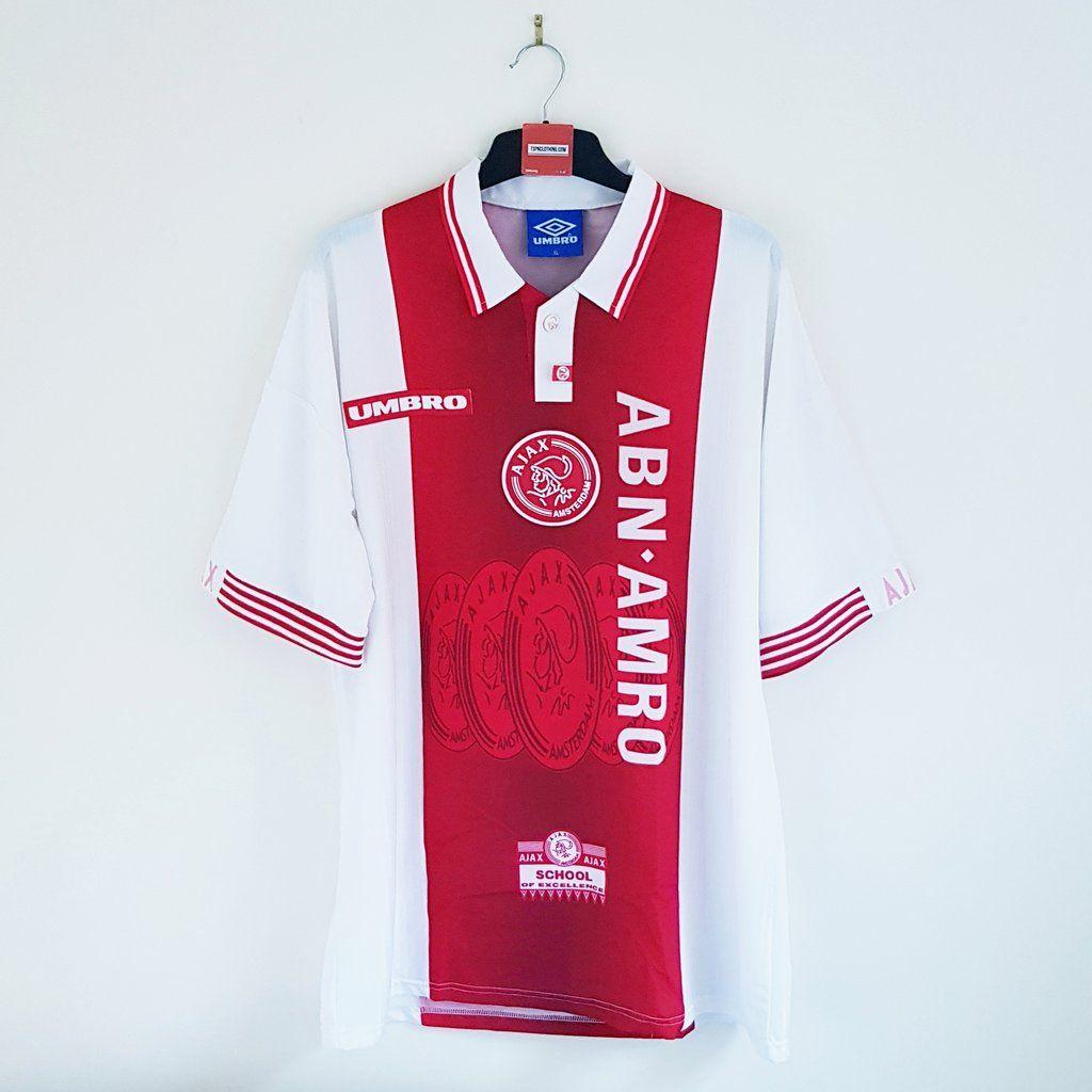 Ajax Amsterdam Home Football Shirt 1997 98 Retro Football Shirts Classic Football Shirts Football Shirts