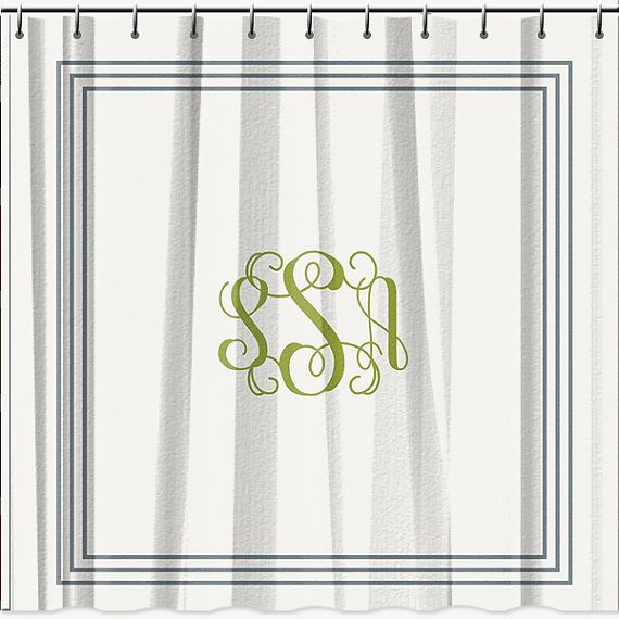 Classic Monogrammed Shower Curtain 70x90 by