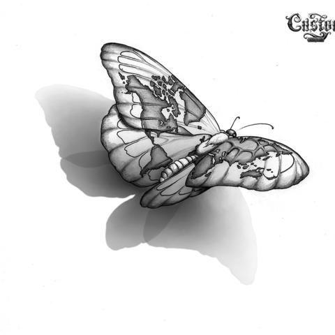 Butterfly World Map Tattoos Pinterest World Map Tattoos Map