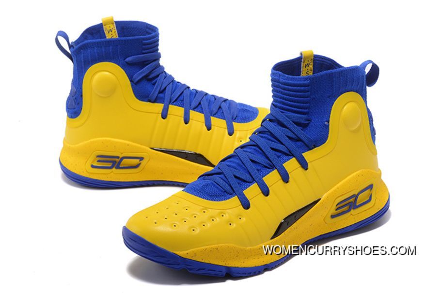 Under Armour Curry 4 Yellow Blue Black New Release in 2019 ... 58d773117