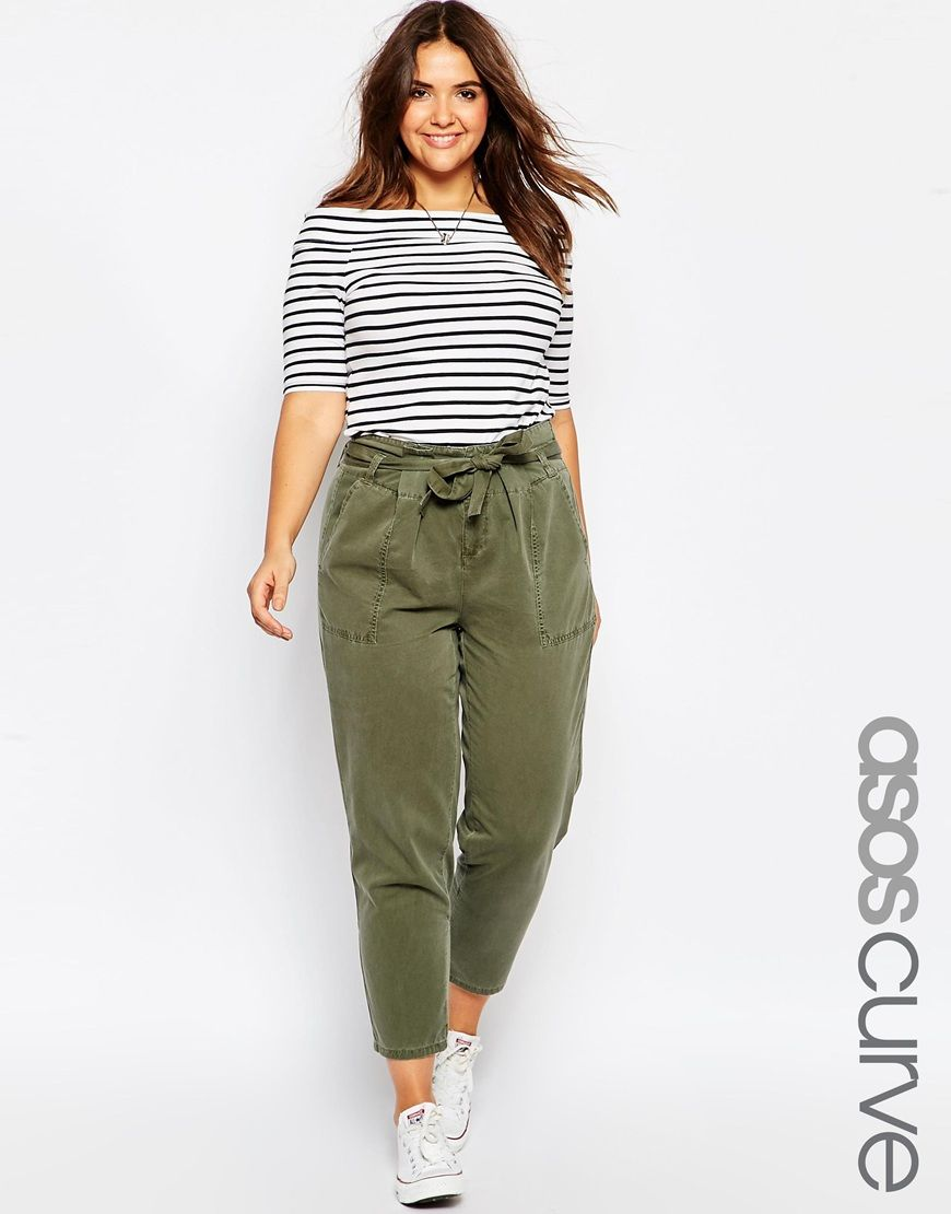 Asos Curve Utility Pocket Trouser Looks Pinterest Asos Curve Curves And Curvy