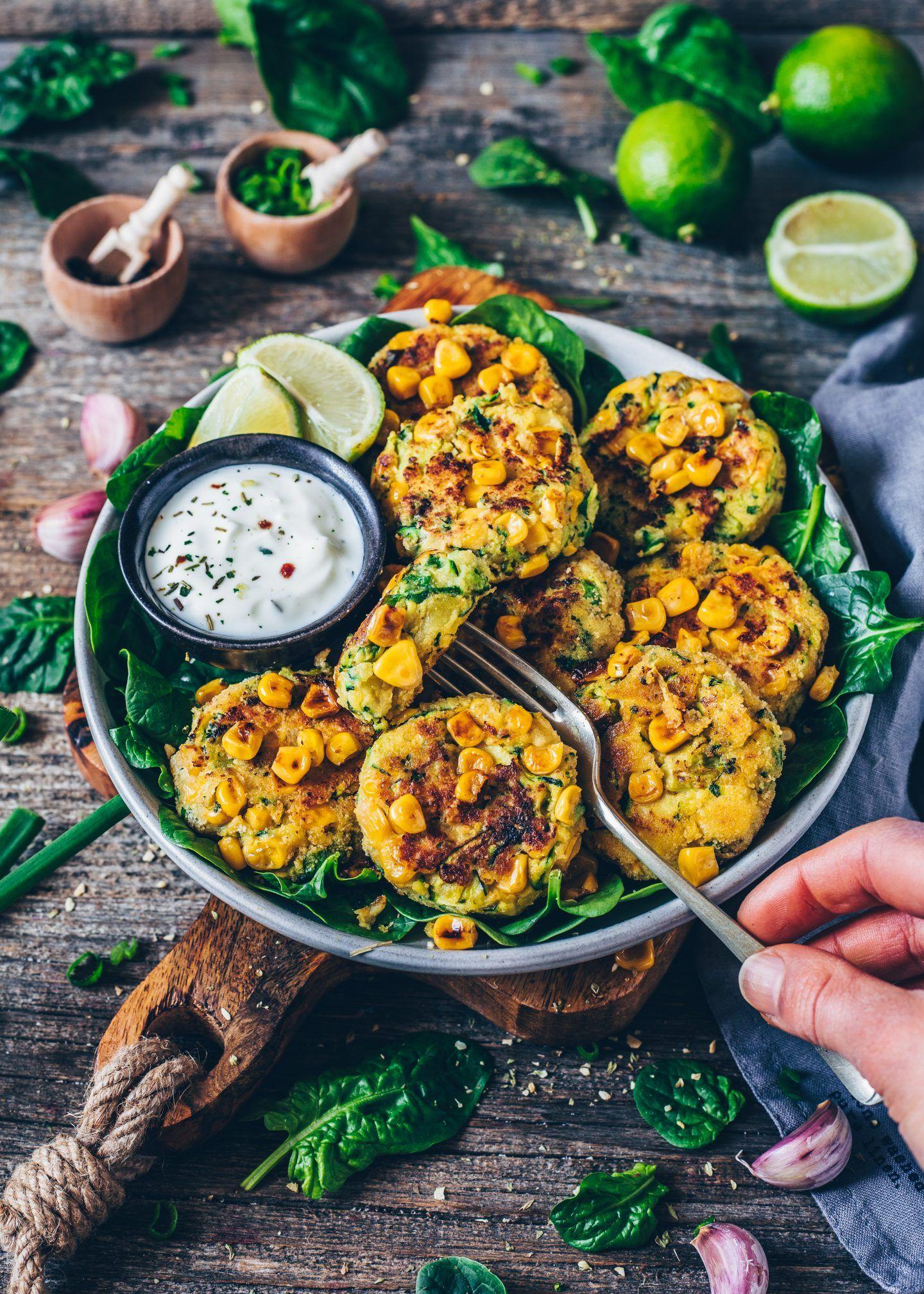 Zucchini Mais Puffer Rezept Gesunde Vegetarische Rezepte Rezeptideen Und Vegane Gerichte