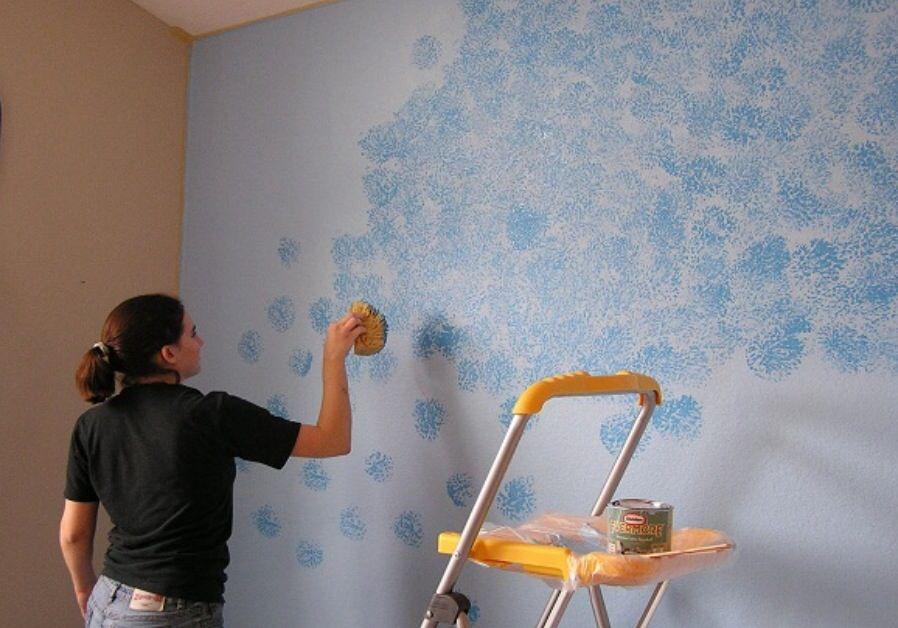 Sponge Paint Design Diseno De Pintura De Pared Pinturas De