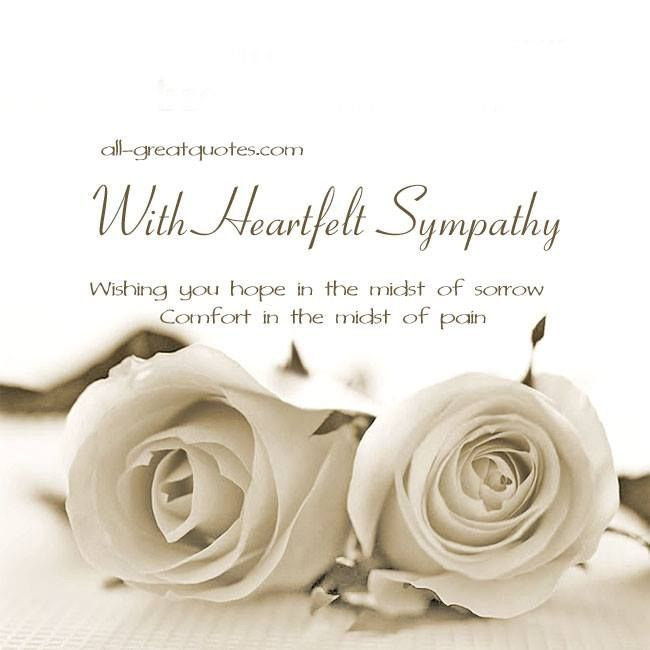 free sympathy condolences cards for facebook - Deepest Sympathy Card