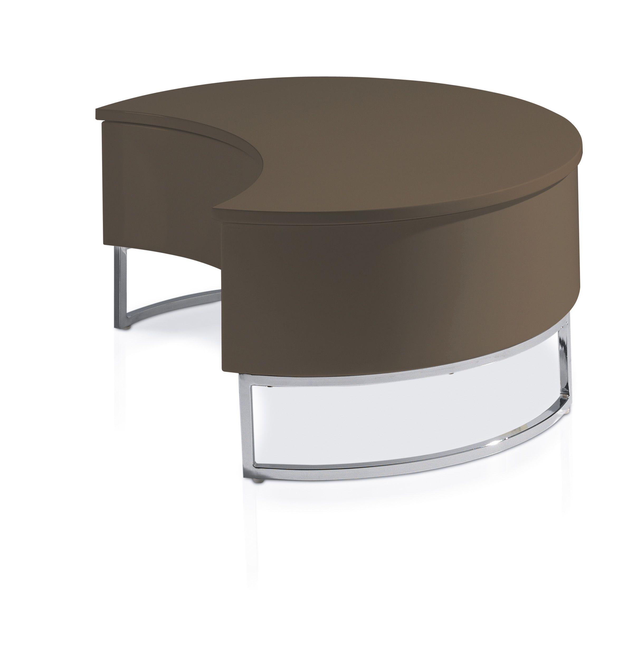Designer Table Basse Relevable Laquee Marron Pied Acier Chrome Luna Lestendances Fr En 2020 Table Basse Relevable Table Basse Table Basse Moderne