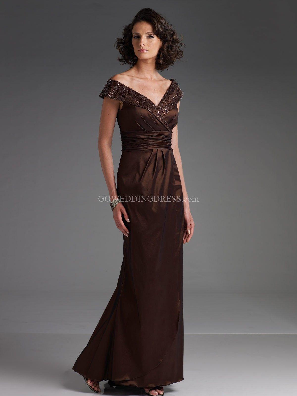 Stretch taffeta evening dresses