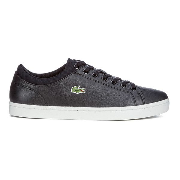 e970fa7c9d6e5 Lacoste Men s Straightset SPT 116 1 Leather Trainers - Navy (365 SAR) ❤  liked