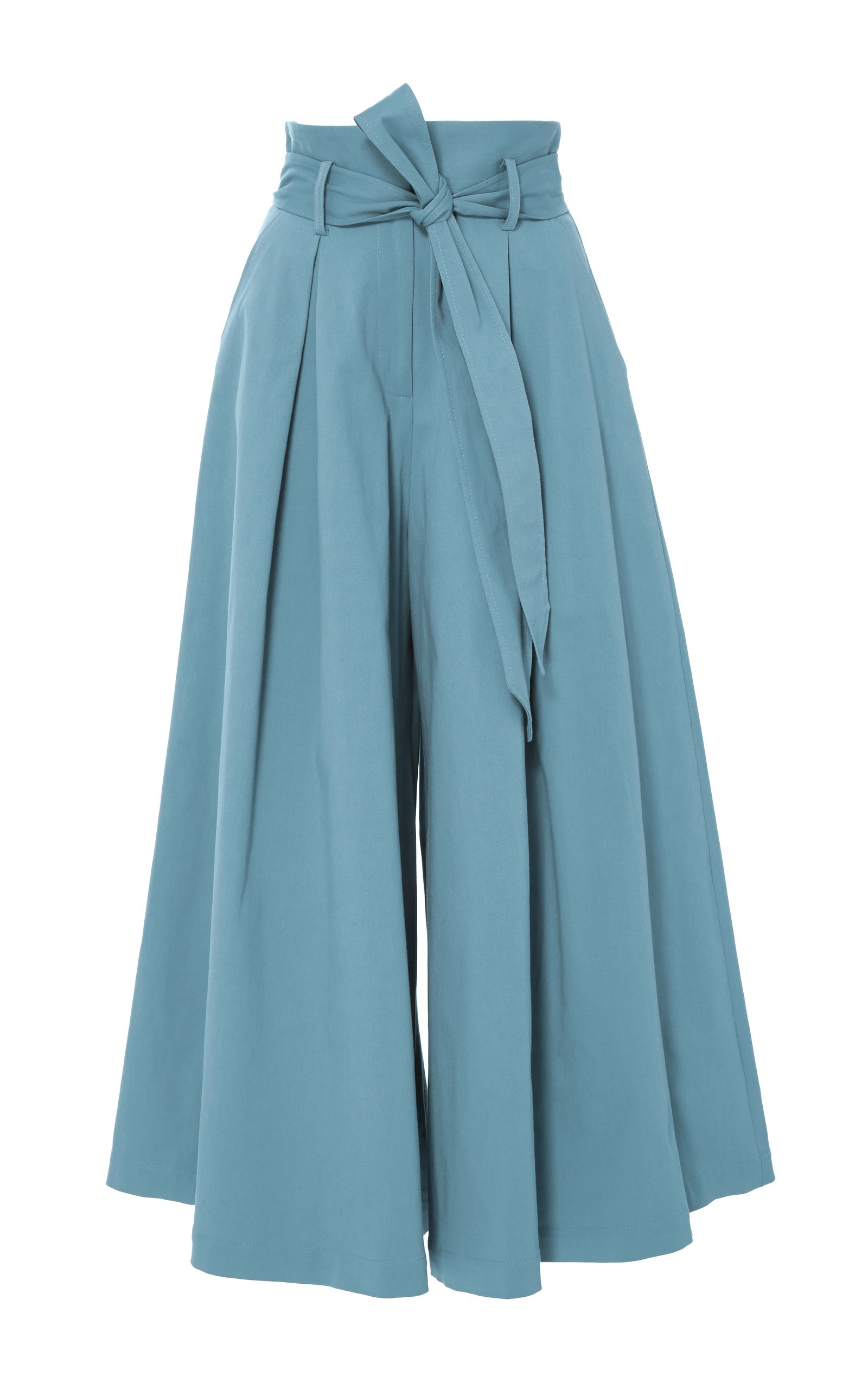 Photo of Blueberry Tailored Ruffle Culottes by Temperley London | Moda Operandi