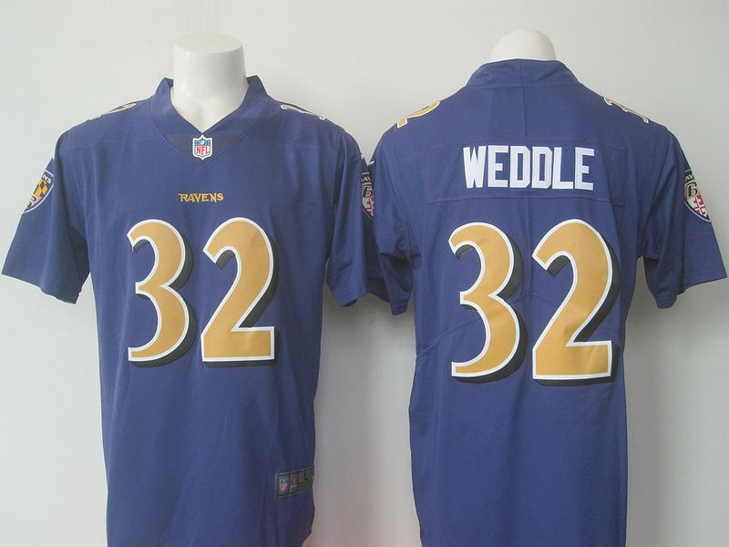 c45347b552a Baltimore Ravens 32 Weddle Purple Color Rush Jersey