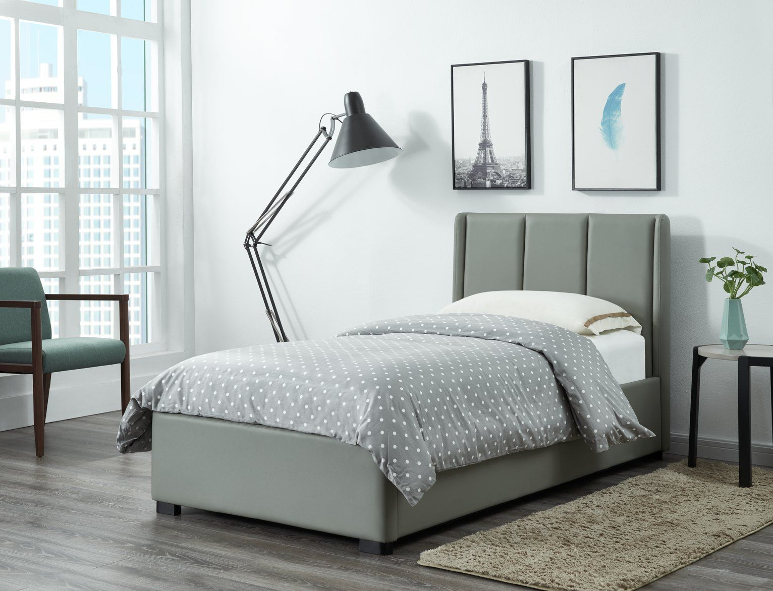 Buy Argos Home Austen Ottoman Single Bed Frame Grey Bed Frames