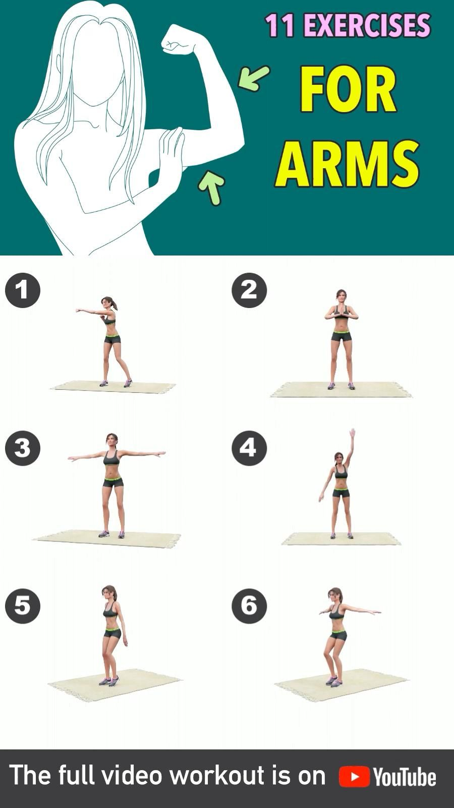 Get rid of arms fat with this exercise