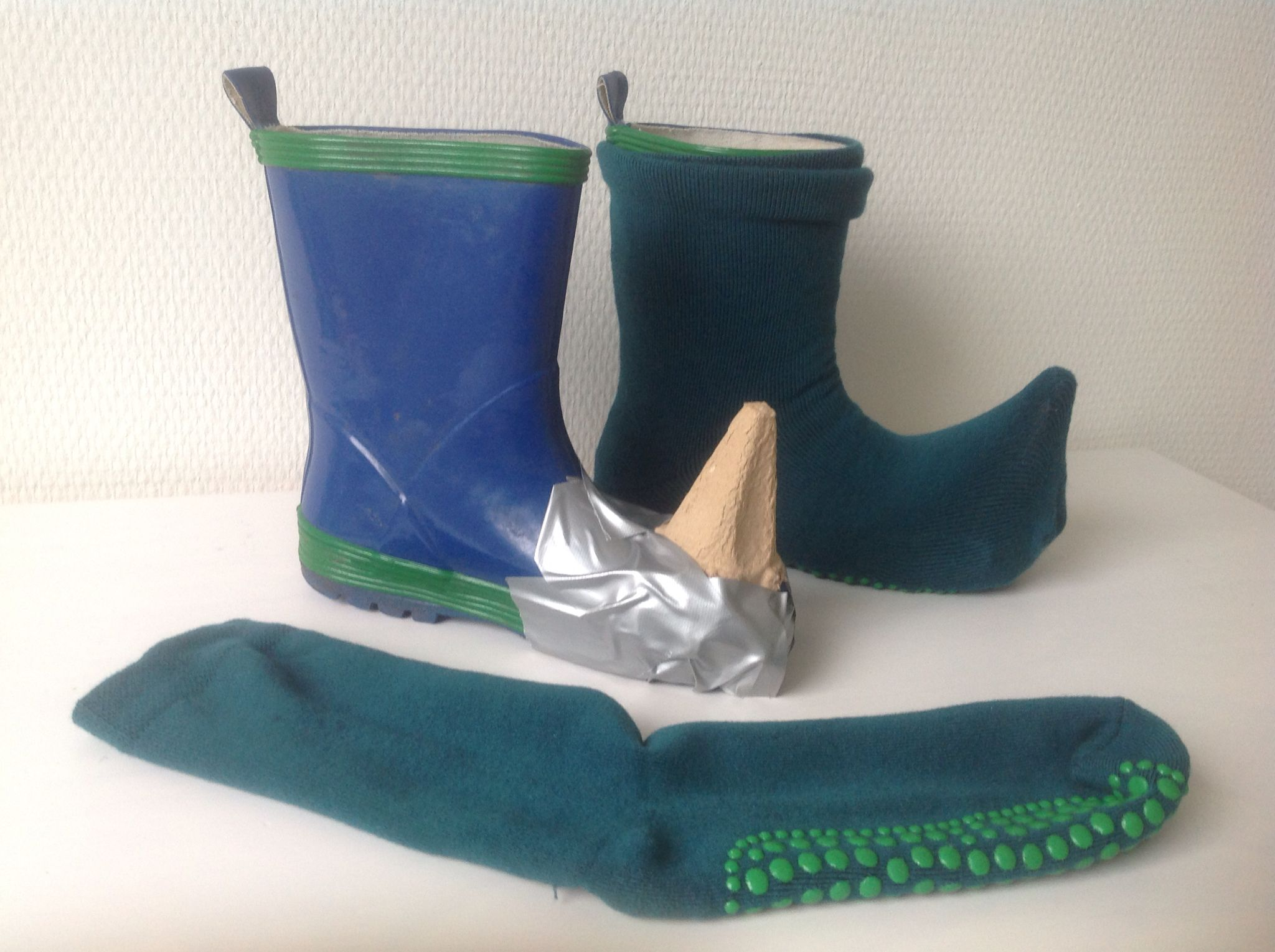 19f76e61e93 Last minute costume dwarf shoe  boot cover fairytale shoes diy. Made of a  sock