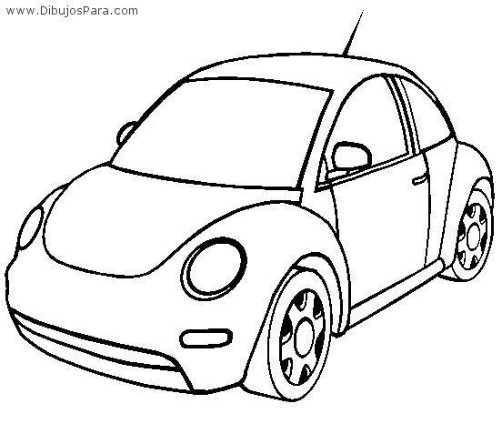 Dibujo De Auto Vw Beetle Dibujos Para Colorear Dibujos De Autos Volkswagen Escarabajo Dibujos De Coches