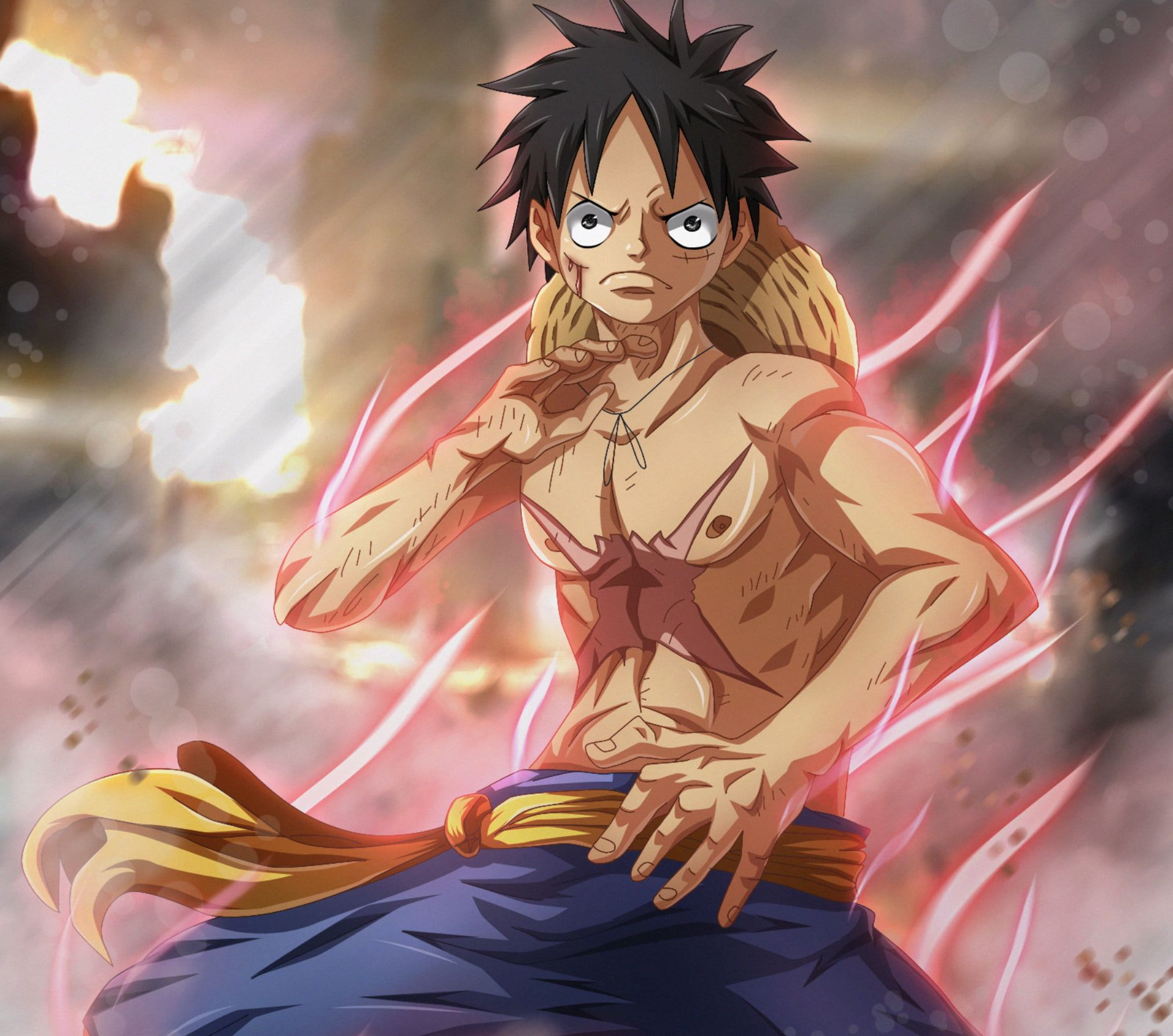 Anime One Piece Angry Black Eyes Black Hair Boy Monkey D Luffy Scar 1080p Wallpaper Hdwallpaper Desktop Anime Luffy One Piece Anime