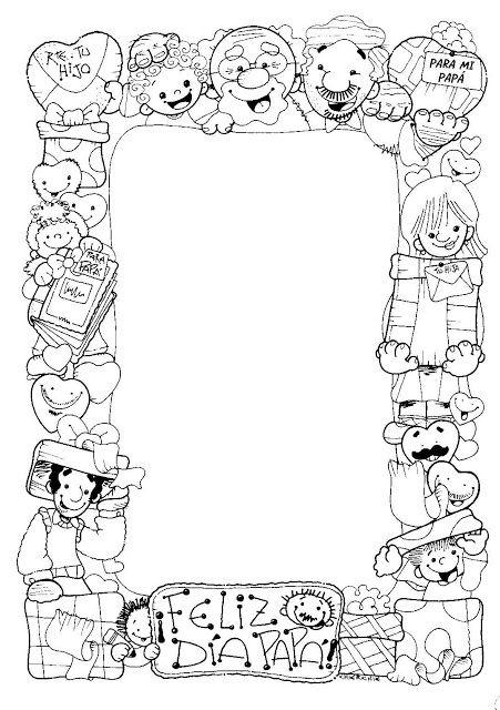 Maestra de Infantil: Tarjetas para colorear en el día del padre ...