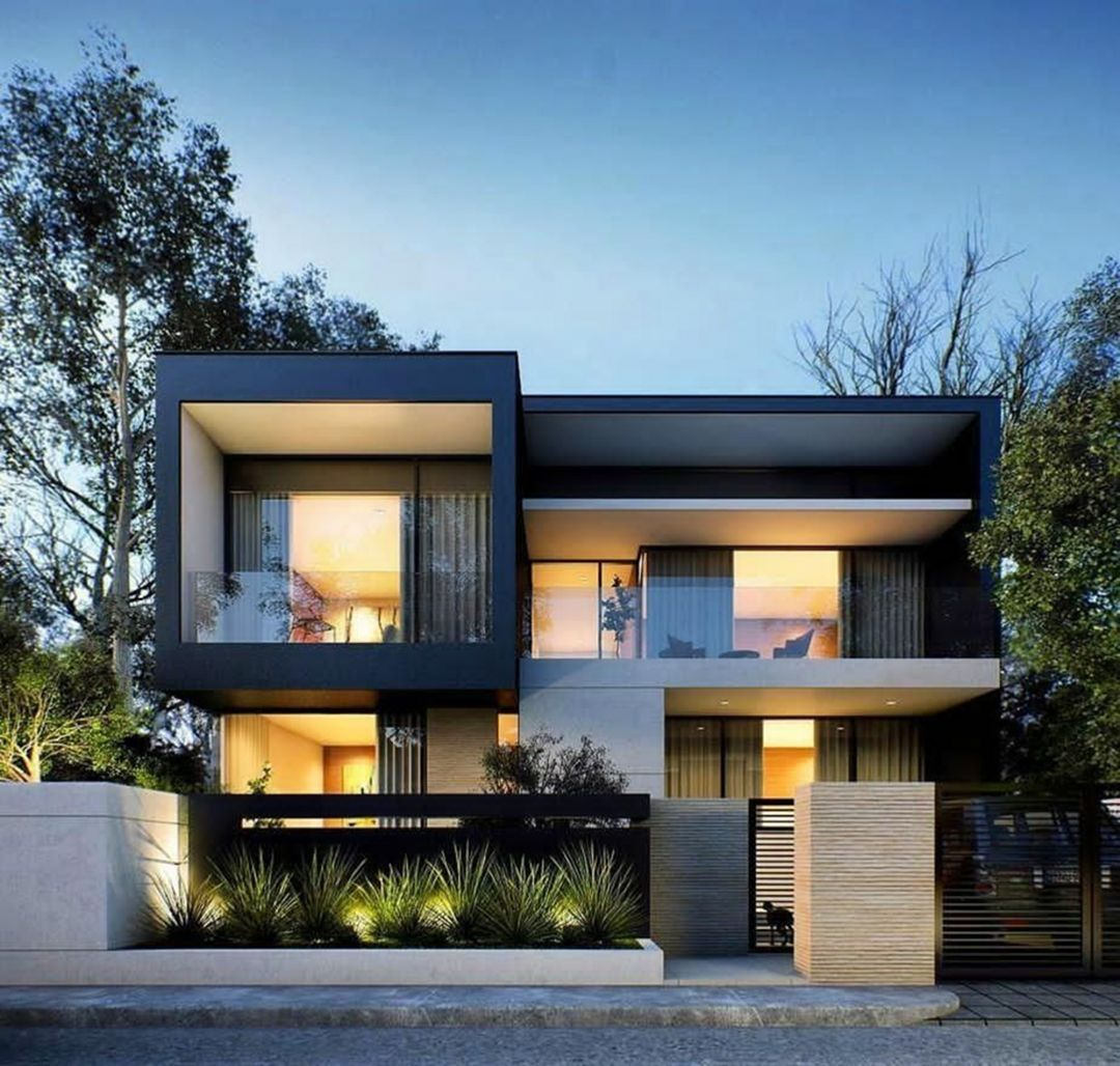 10 Awesome Contemporary House Designs With Modern Ideas Contemporaryhousedesigns Contempor Modern House Design House Front Design Modern House Exterior