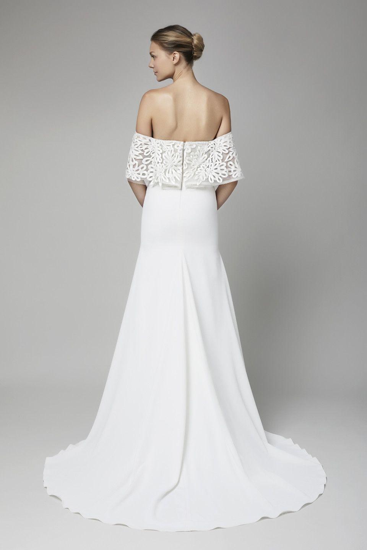 Lace dress with shorts underneath september 2019 Zoom view  Jess and Jason sept   Pinterest  Lela rose Bridal