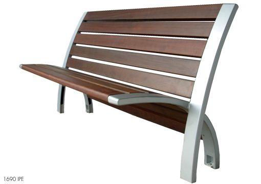 Modern Metal And Wooden Benches For Outdoor Park Furniture Modern - muebles en madera modernos