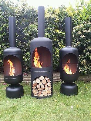 Gas Bottle Wood Burner/ Log Burner / Chiminea/patio Heater/ Fire Pit/yurt/  In Garden U0026 Patio, Barbecuing U0026 Outdoor Heating, Firepits U0026 Chimeneas