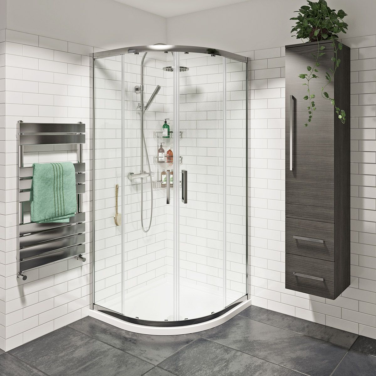 Mode Tate 8mm easy clean sliding quadrant shower enclosure ...