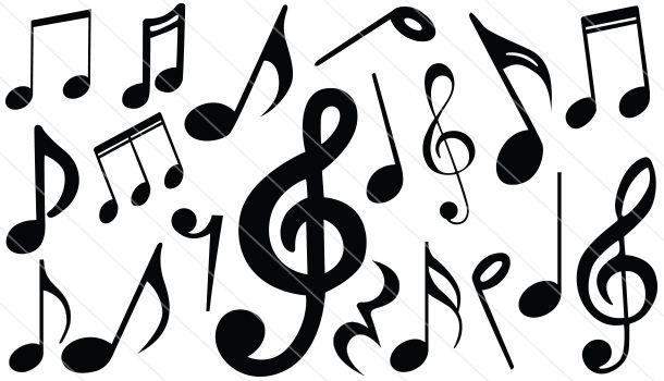 Music Notes Silhouette Vector Download Music Silhouette Music Silhouette Music Notes Music Notes Tattoo