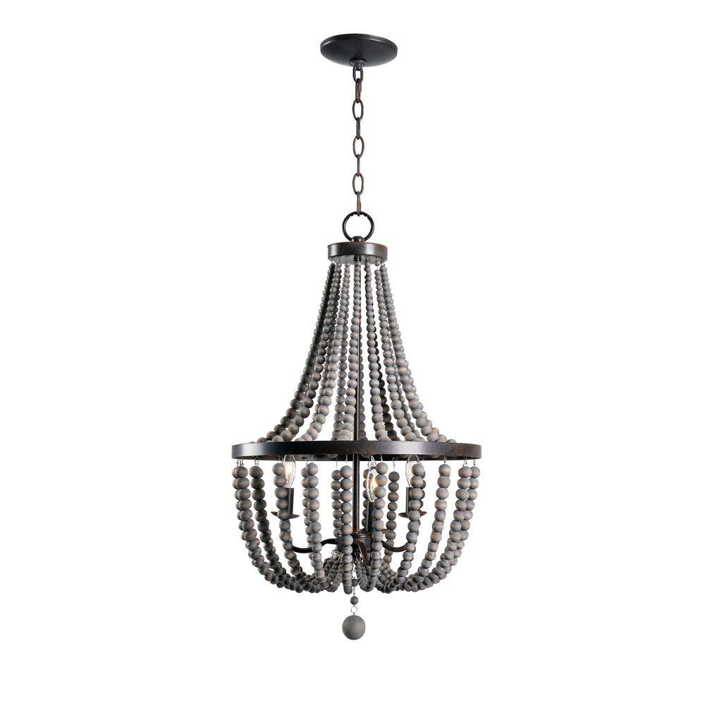Kenroy home dumas light golden bronze chandelier chandeliers and