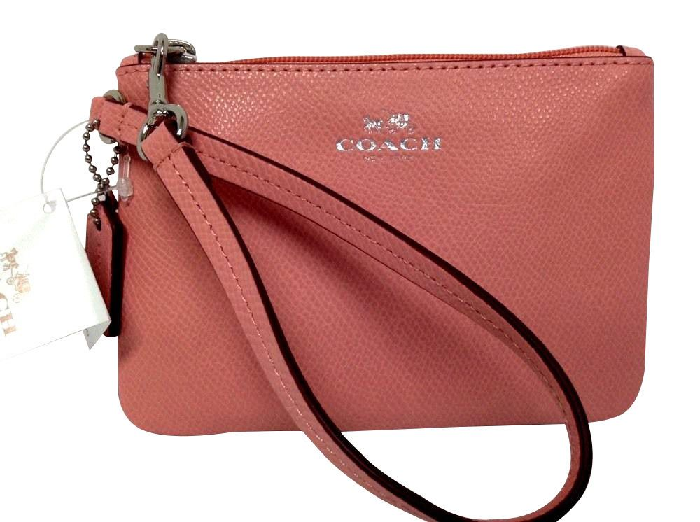 Bidding going on NOW!  COACH  Wristlet Wallet Purse Pocketbook Small Cross grain Leather NWT 52850 #Coach #Wristlet