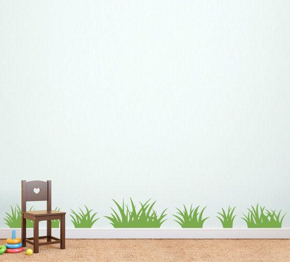 Grass Wall Decal Set Of Grass Patches Children Wall Decal - Wall decals grass