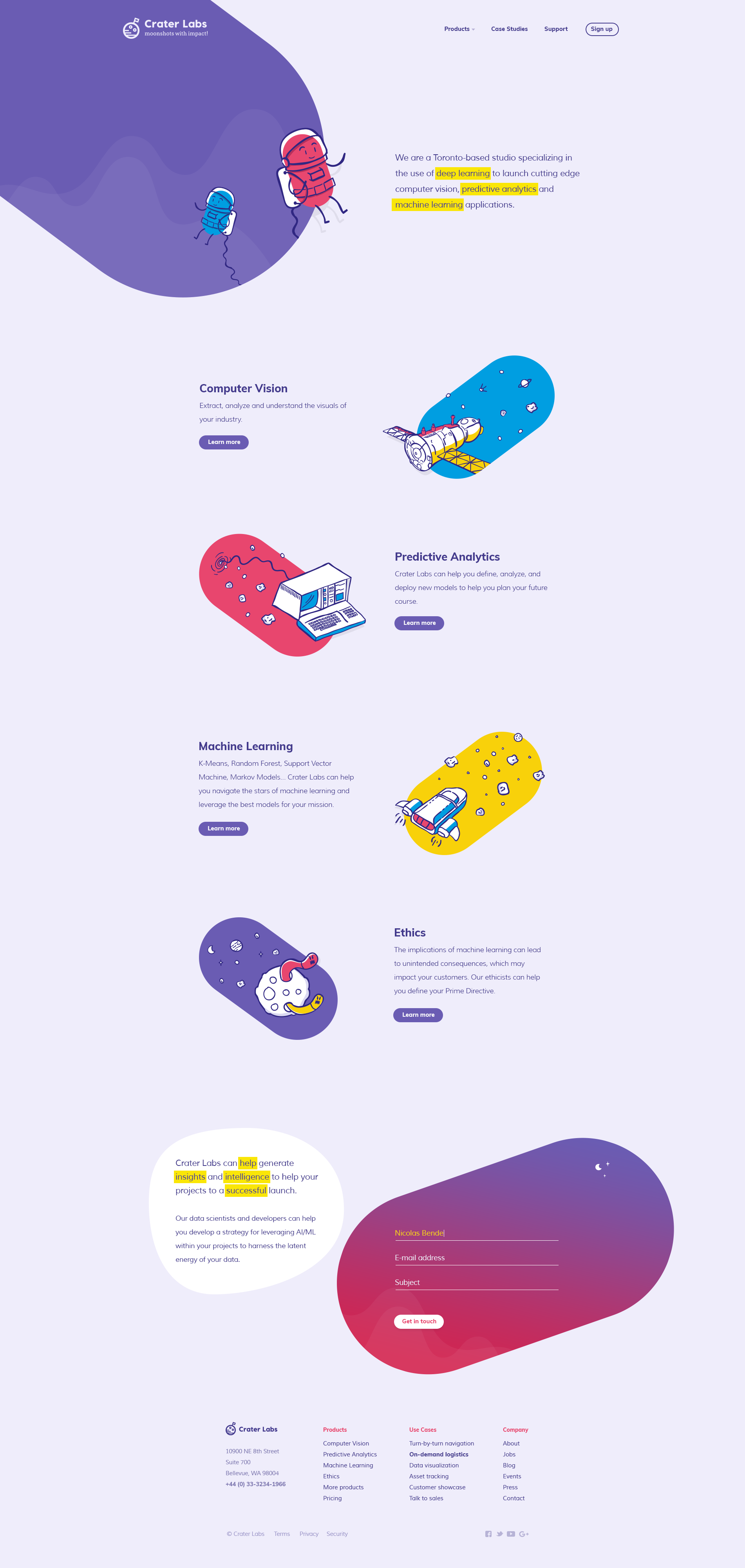 9 cutting-edge web design trends for 2018. A landing page by SixDesign featuring custom illustrations and gradient color transitions. #2018designtrends #webdesigntrends #graphicdesigntrends