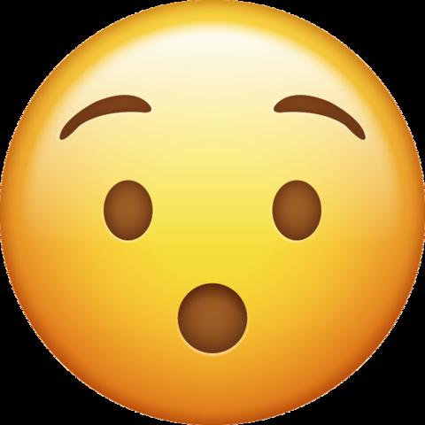 Surprised Emoji Free Download Ios Emojis Surprised Emoji Wow Emoji Emoji