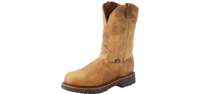 Justin Men's J-max - Steel Toe Pull On Work Boots | Best Pull On ...