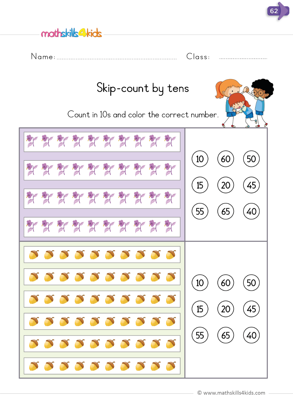 Skip Count By Tens Counting Worksheets For Kindergarten Skip Counting Worksheets Kindergarten Worksheets [ 1413 x 1000 Pixel ]