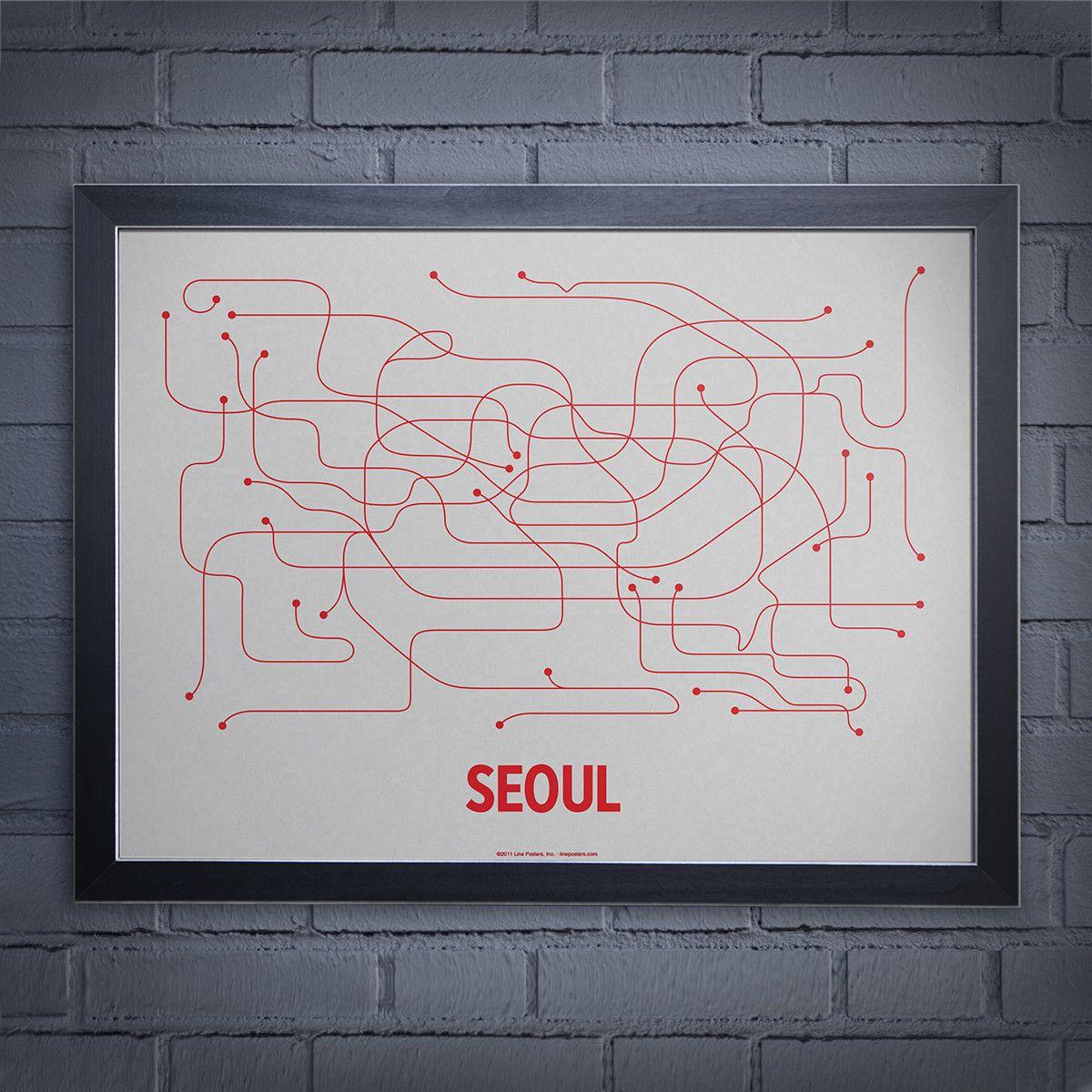 Lineposterscom Seoul subway map Lineposterscom Seoul subway