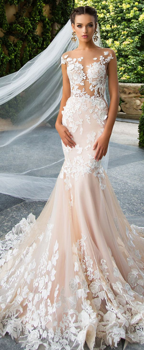Jewel Neck Wedding Dress