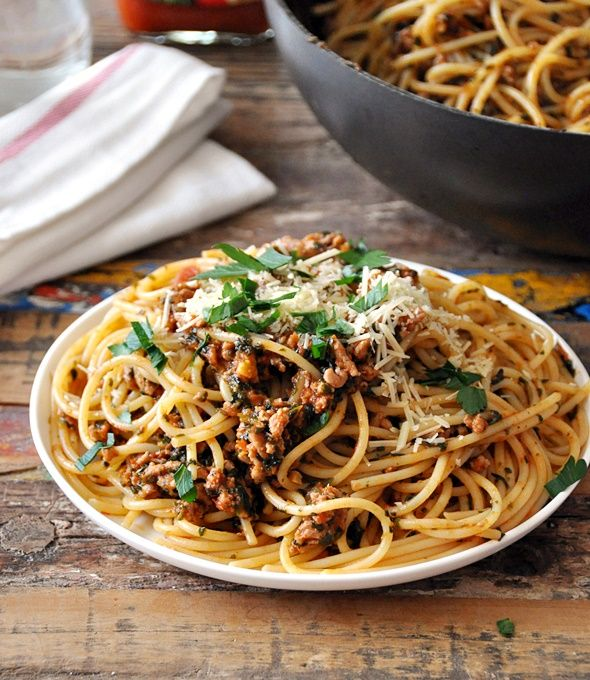 Turkey & Spinach Bolognese | Recipe | Poultry recipes ...