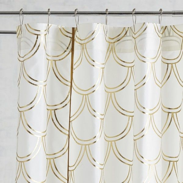 Pier 1 Imports Foil Scalloped Shower Curtain 50 Liked On Polyvore Featuring Home