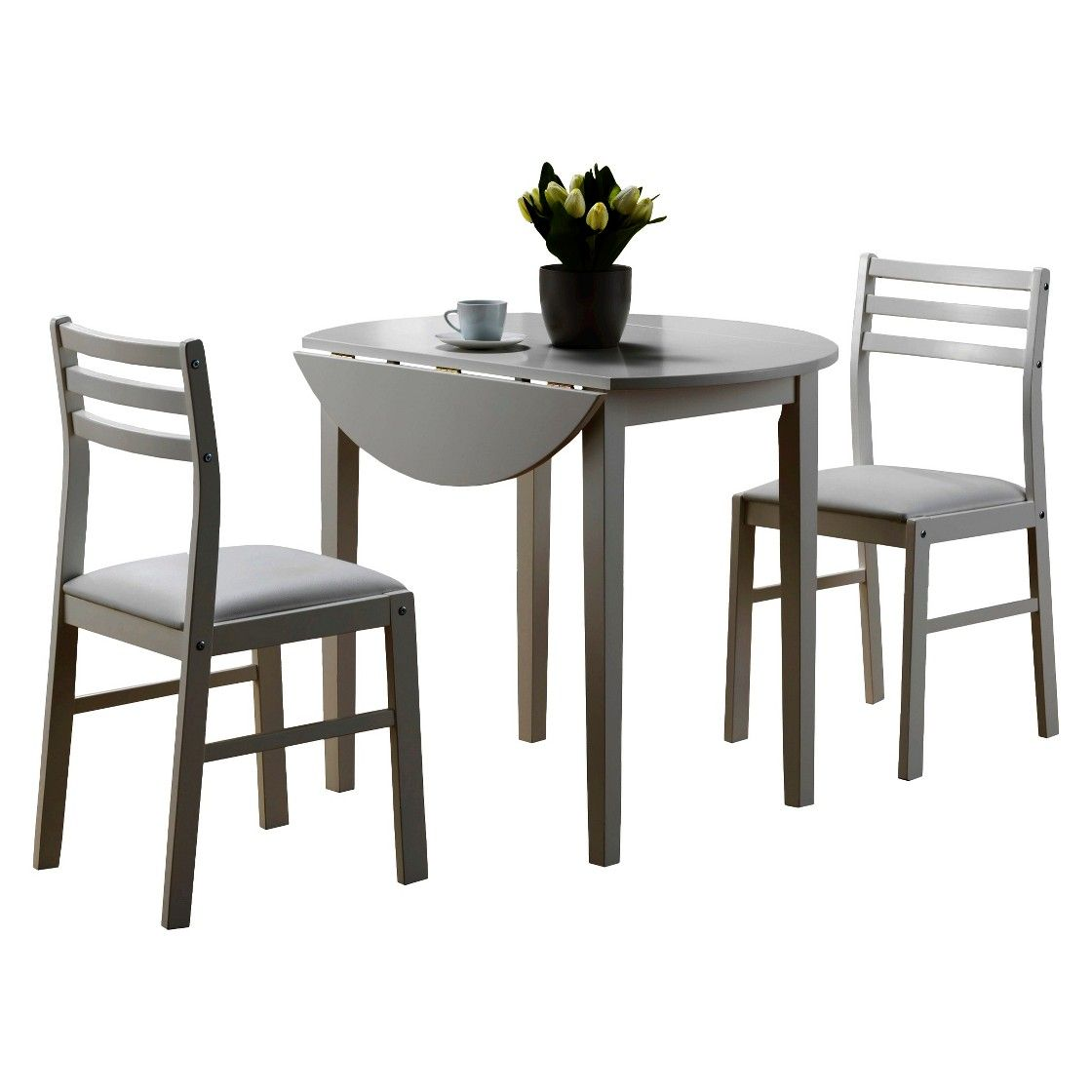 Monarch Specialties White Dining Set With Round Dining: Dining Table And Chairs