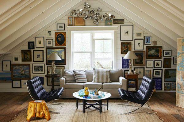 Unfinished Attic Craft Room