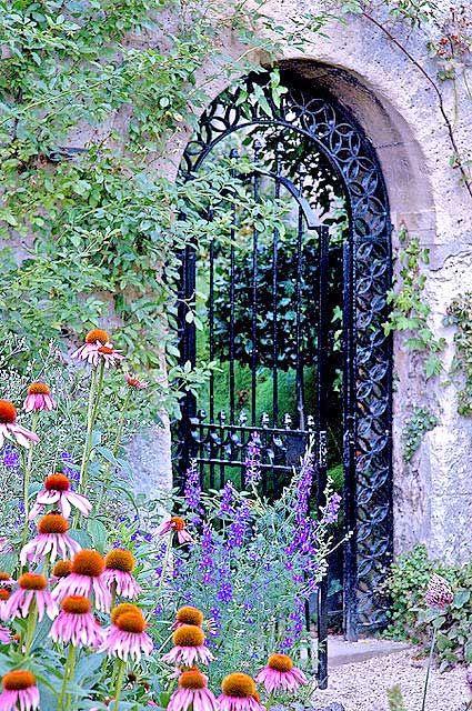 Pretty Garden  Gate Kiss me by the garden gate Pinterest