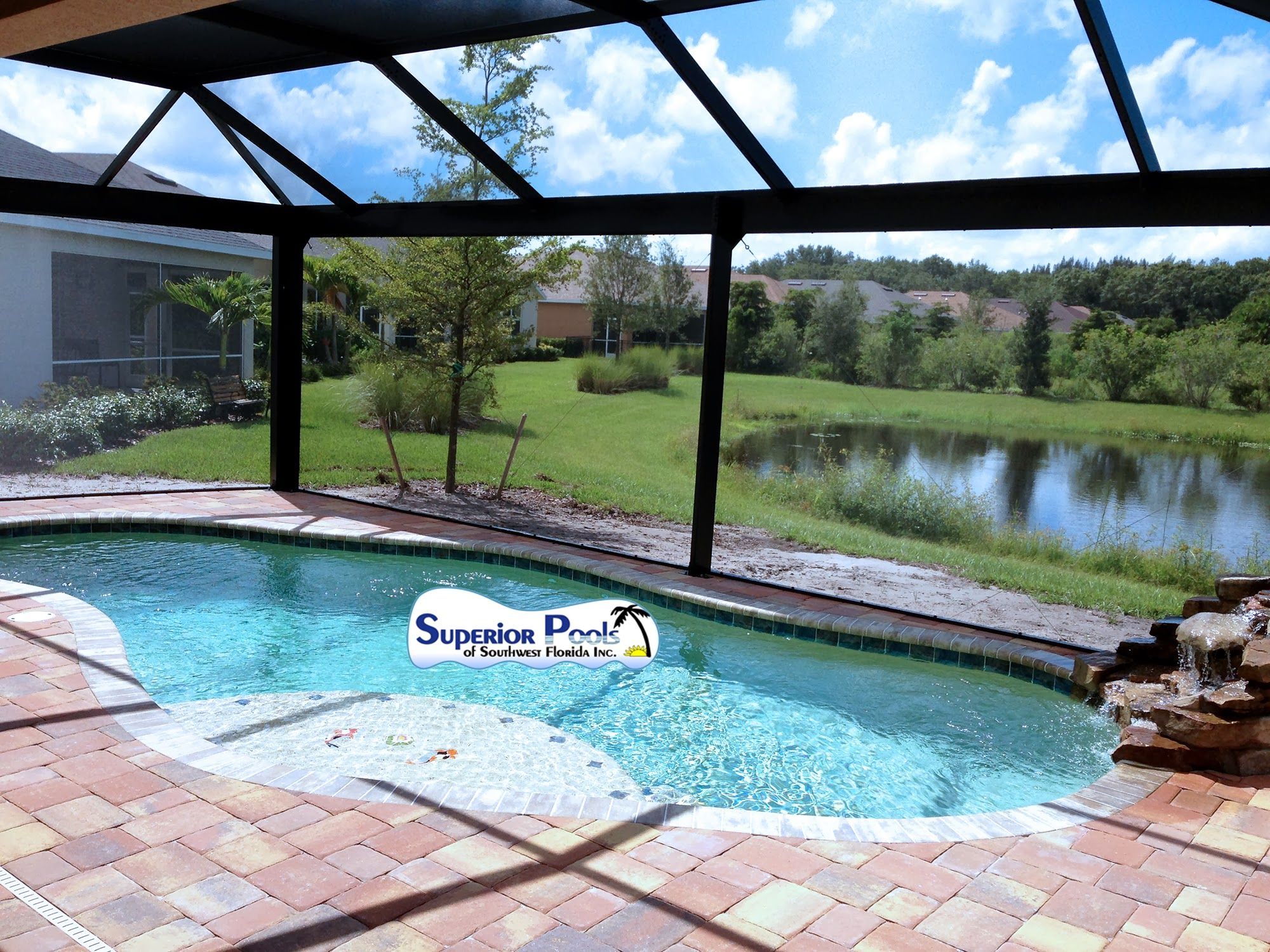 Superior Pools Open View Pool Cage Superior Pools New Open View Cage Pinterest Pool Enclosures