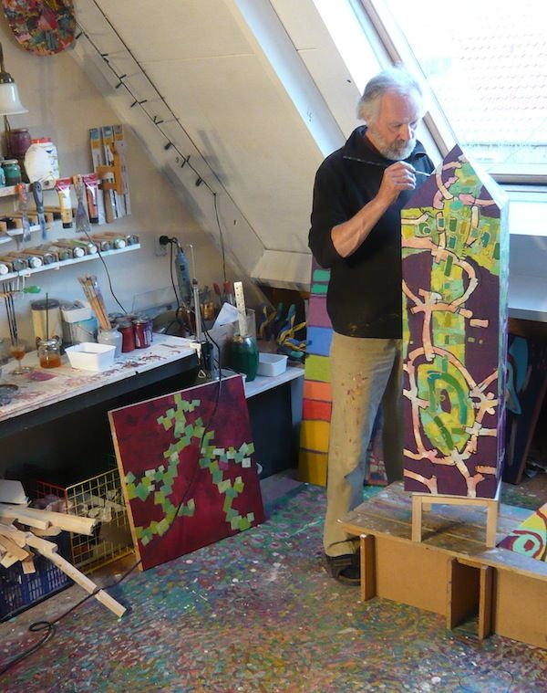 At work in my studio